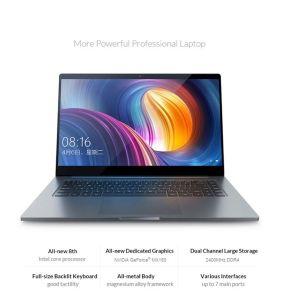 Ordinateur portable Xiaomi mi air original PRO ordinateur 15,6 pouces Processeur Intel Core i5-8250U NVIDIA 8 Go SSD de 256 Go Xiaomi ordinateur portable