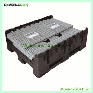 Un fuerte movimiento sólido de plástico apilables caja plegable