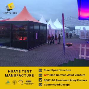 100 Leute-Gaststätte-Zelt mit transparentes Zelt-Dach-im Freienpartei
