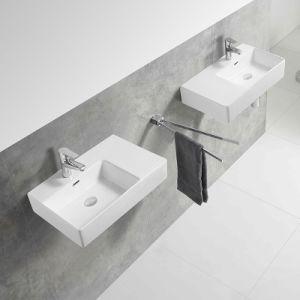 Salle de Bain lavabo en céramique d'art du Cabinet du bassin de lavage des mains avec du blanc