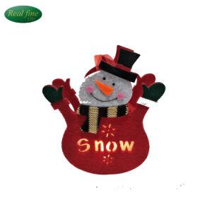 De met de hand gemaakte Hangende Decoratie van de Sneeuwman van Kerstmis van Ambachten Doek Aangestoken