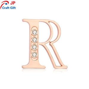 創造的なRの文字の形の折りえりPinをカスタマイズしなさい