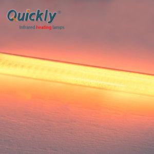 Fibra de carbono de halogéneo infravermelhos Hetaer Quartzo para aquecimento industrial