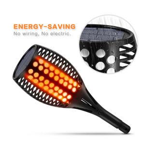 Flackerndes Flamme-Fackel-Solarlicht 96 LED mit Stock für im Freienlampe