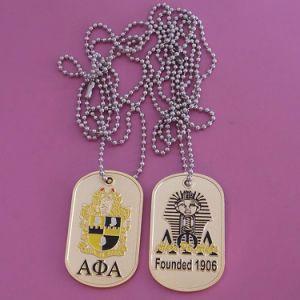 Collana personalizzata della modifica di cane dell'associazione studentesca femminile e della classe con la catena della sfera