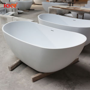 Kingkonreeの固体表面の白い石造りの浴槽