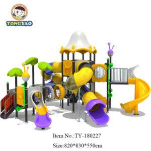 На заводе Tongyao цветные пластмассовые коммерческих открытый слайд-игровая площадка (TY-40662)