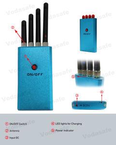 Wi-Fi/Bluetooth Draadloze Blocker die van de Camera 1.2g 2.4G de Blokkerende Waaier van de Stoorzender van de Telefoon van de Cel van de Zak van het Insect van de Spion Mini tot 10m blokkeert