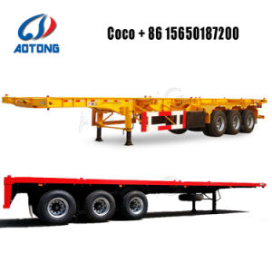 3개의 차축 40FT Skeleton/Flatbed Container Semi Trailer
