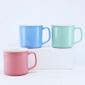 Glaseado multicolor /Taza de cerámica taza de café para regalo, promoción o el uso diario y la fábrica las ventas directas y aceptar la costumbre, la impresión de color azul verde Logo-Red Mug