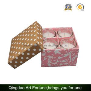 4pk vidro perfumada velas votiva em Dom caixas para promoção