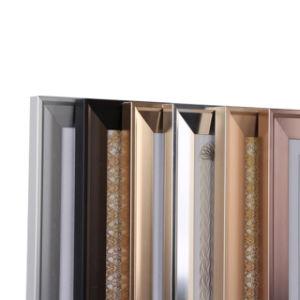 La taille de grain en bois personnalisé Ce cadre photo photo standard en aluminium