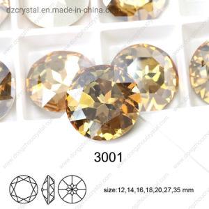 Pietra operata di cristallo K9 con la branca del metallo per i Rhinestones all'ingrosso