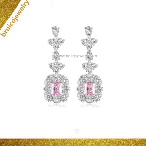 Fashion 925 Sterling Silver Drop Earring 9K 14K 18K de bijoux en or bijoux en diamants pour mariage