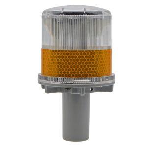 Intermitência automática tráfego Solar Testemunho LED âmbar farol rotativo