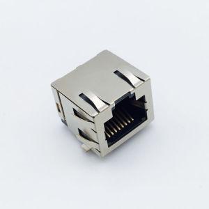 RJ45 1 X N/2 x N da ficha do transformador LED integrada Módulo Magnético 8p8c totalmente protegido