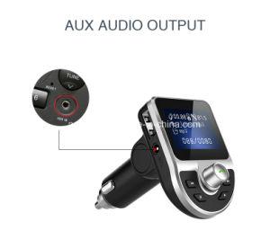 Carro do receptor do adaptador de áudio do transmissor FM Carregador para automóvel mãos livres sem fios