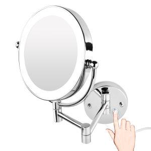 Double pivot de bras extensible de 7x Loupe fixés au mur miroir de rasage pour douche
