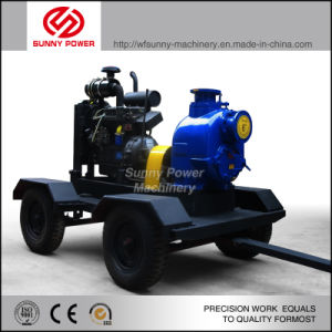 Diesel Bomba de agua para riego con Remolque/carcasa a prueba de tiempo