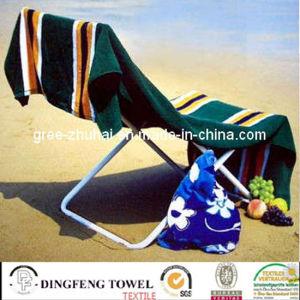 100% coton imprimé réactif de velours de serviette de plage DF-2896
