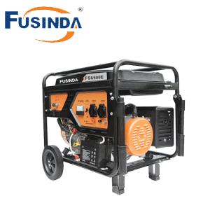 Equipamentos de Energia Fusinda 100165 5000 Watts Gerador portátil de combustível duplos com arranque eléctrico