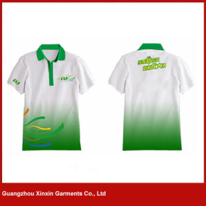 Camisas de polo feitas sob encomenda da impressão do Sublimation dos homens para o trabalhador (P80)