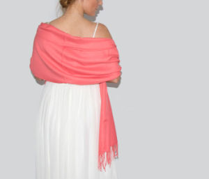 Elegante Boda Coral Bridesmaid bufanda chal Pashmina