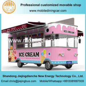 5 mètres de l'alimentation électrique du chariot camion de crème glacée Hot Sale