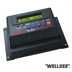 Zonne Controlemechanisme met LCD Vertoning ws-C2430 12/24V 20A/25A/30A