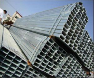 Hot-DIP Gegalvaniseerde Buis van het Staal van de Rechthoek/de Holle Vierkante Pijp van de Sectie/de Pijp van het Staal/Vierkante Buis