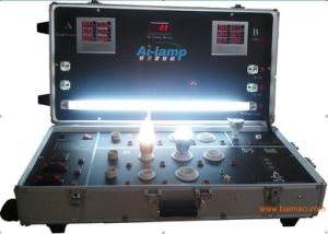 LED-Birnen-Gefäß-Punkt-Licht-Prüfungs-Demo-Erscheinen-Fall