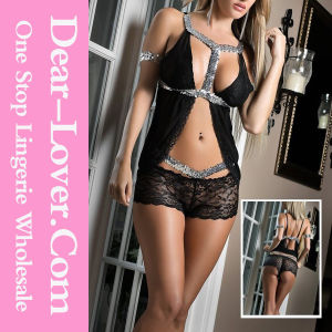Black Lace Babydolls Lingerie Sexy