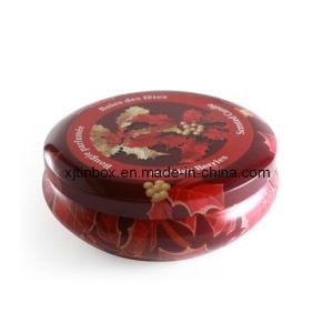 円形の蝋燭の錫ボックス、蝋燭の錫ボックス、蝋燭の錫、金属の蝋燭は、蝋燭ボックス、錫の蝋燭ボックスできる