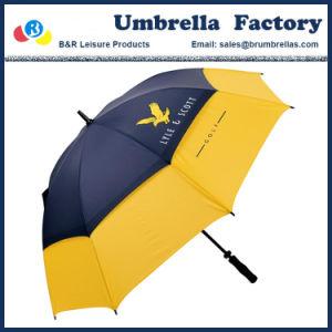Fuerte paraguas de Golf de 62 con doble capa dosel