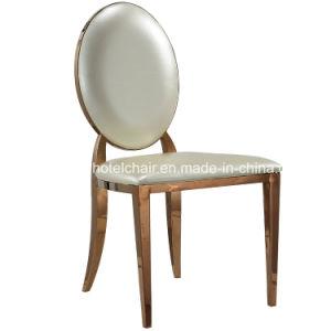 Moderno de Aço Inoxidável Banquetes Evento Casamento cadeiras