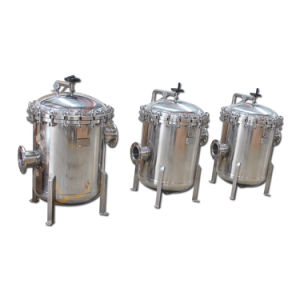 Beutelfilter-Gehäuse-Edelstahl-Flüssigkeit-Filtration