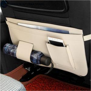 Cuero PU Universal Backseat Organizador Coche Coche multifunción Kick Mat