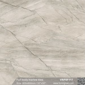 フォーシャンFull Body Marble Glazed Floor Wall Tile (VRP8F117、800X800mm/32  x32 )