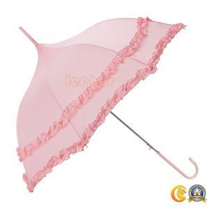 ピンクカラー傘と結婚している高貴でまっすぐな日曜日のギフトの女性