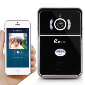 Ebell setzen inländische drahtlose Türklingel-Kamera des Wertpapier-HD mit Innenzarge-StützHandy frei und überwachen Schwarzes