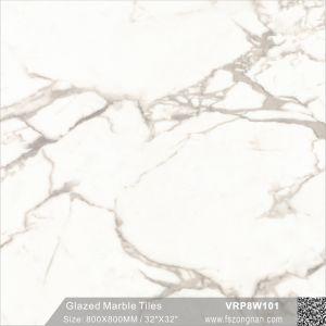 建築材料の艶をかけられた大理石の磨かれた磁器の浴室の床タイル(VRP8W801、800X800mm)