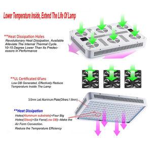 Chip duplo de venda quente 60 LEDs de PCS Full Spectrum planta crescer iluminação LED 300W luz crescer