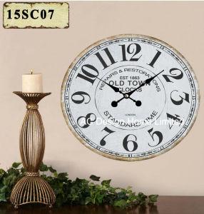 型の装飾の骨董品の優雅な昔デザインMDF木プリントペーパーステッカーの柱時計