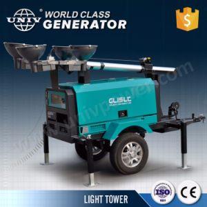 産業トレーラーの移動式発電機の照明タワー