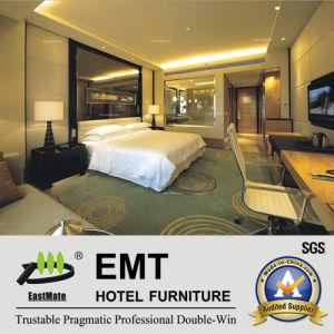 Tête de lit en verre de luxe sur le mur /hôtel de taille double chambre à coucher meubles (EMT-A1202)