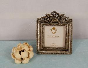 Rectangle de moulage Polyresin Silver Rose Cadre Photo de mariage