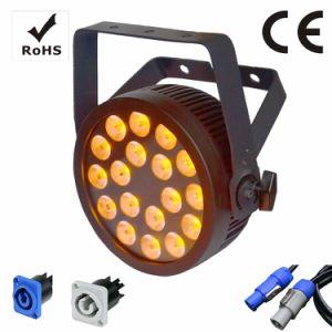 18X12W RGBWA UV LED Slim par étape avec la lumière et de la Certification Ce Powercon