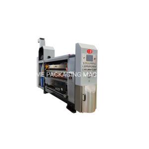 Máquina de impressão de cartões de alta definição 4 Cores Impressora Flexo Slotter Die Cutter impressão à base de água rotativo com Glazer Secador