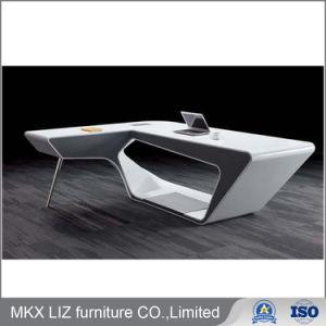Diseño simple madera Mesa de ordenador en color Blanco alto brillo Painiting (9810)