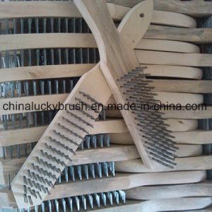 Spazzola di legno unita della maniglia del filo di acciaio (YY-127)